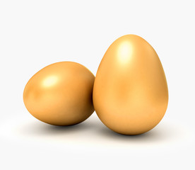 3d eggs isolated