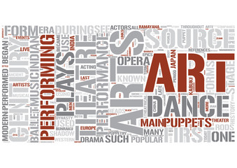 Performing arts Word Cloud Concept