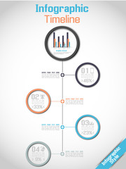 INFOGRAPHIC TIMELINE MODERN CONCEPT