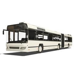 White trambus isolated