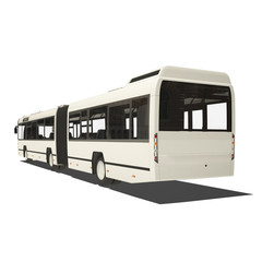 White trambus isolated