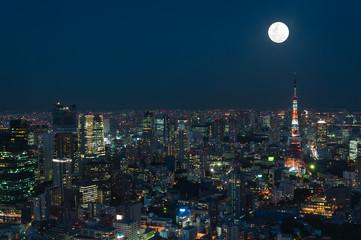 Foto auf AluDibond Tokio Tokyo Cityscape