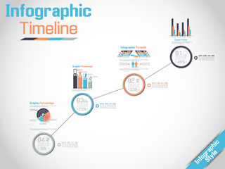 INFOGRAPHIC TIMELINE MODERN CONCEPT 3
