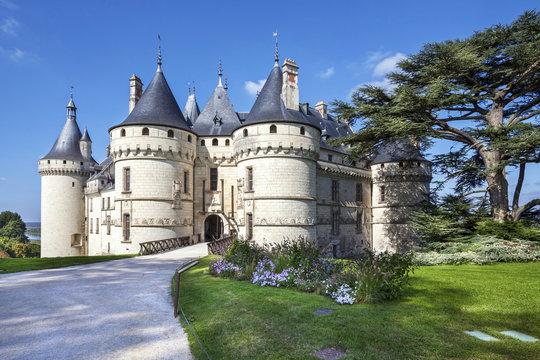 Chaumont-sur-Loire castle. France. Châteaux of the Loire Valley