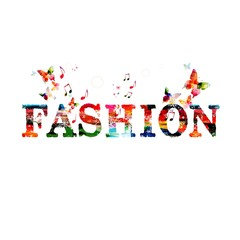 Colorful fashion vector background