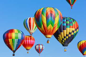 Poster Balloon colorful hot air balloons