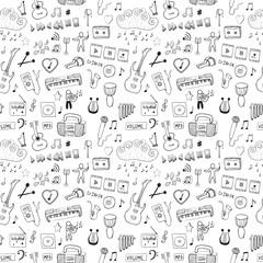 Music symbols. Seamless pattern