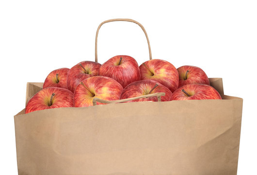 Bag of red apples