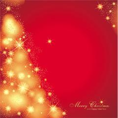 Hintergrund in rot mit abstrakten Weihnachtsbaum