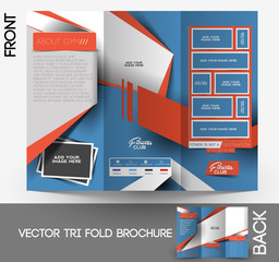 Fitness Center Tri-Fold Mock up & Brochure Design