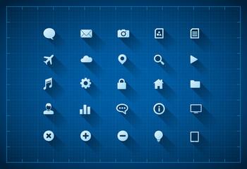 Blueprint icon set