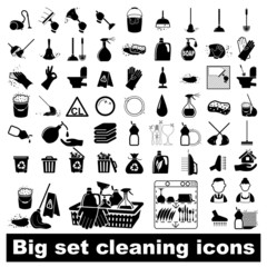 Big set Cleaning Icons
