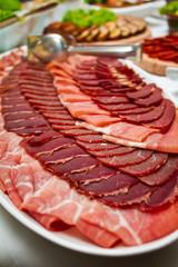 Foto auf Acrylglas Vorspeise Ham Platter