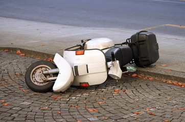 Scooter Scooter down on the street