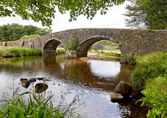 Stone bridge in Dartmoor National Park in England