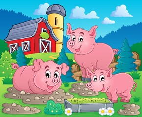 Pig theme image 1
