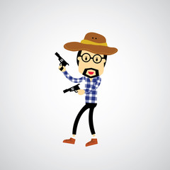 Cowboy vector cartoon