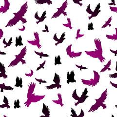 Birds in seamless pattern