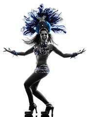 Canvas Prints Carnaval woman samba dancer silhouette