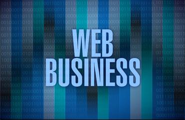 binary web business illustration design