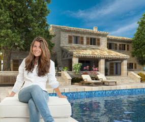 Teenager and dream house