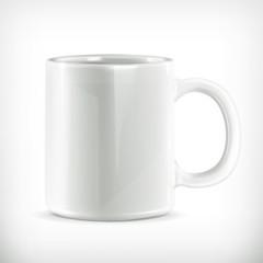 White mug vector illustration