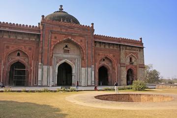 Deurstickers Delhi Qila-i-kuna Mosque, Purana Qila, New Delhi