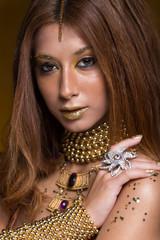 Portrait of beauty woman