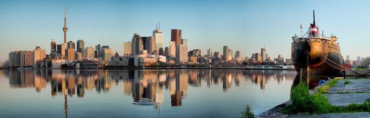 Acrylic Prints Toronto Toronto City Skyline Panorama