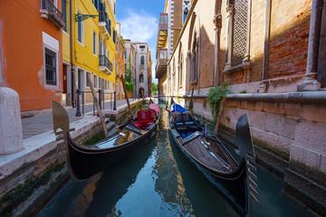 Türaufkleber Gondeln architecture of Venice. Italy.
