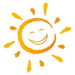lachende Sonne Vektor
