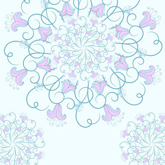 Delicate background with a round flower pattern.