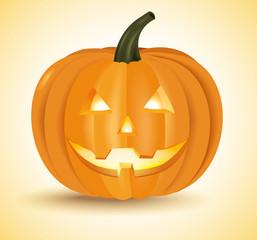 Halloween pumpkin head lantern