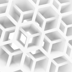 Abstract 3d background with honeycomb structure