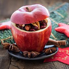 gefüllter Weihnachtsapfel