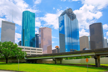 Wall Mural - Houston Texas Skyline modern skyscapers and  blue sky