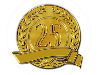 Lorbeerkranz Münze 25