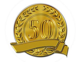 Lorbeerkranz Münze 50
