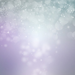 light silver abstract christmas background with white sparkles