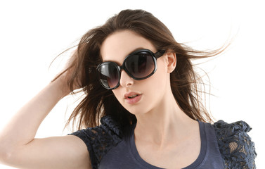Young Woman in sunglasses portrait