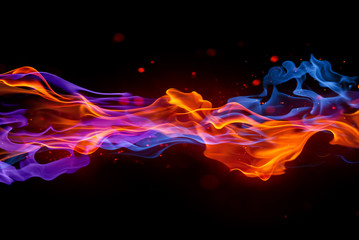 Wall Murals Fire / Flame blaze fire flame texture background