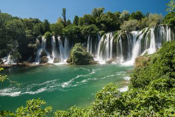 Deurstickers Watervallen The Kravica waterfalls in Bosnia and Herzegovina