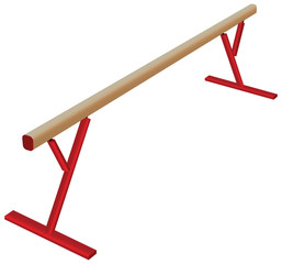 Athletic balance beam
