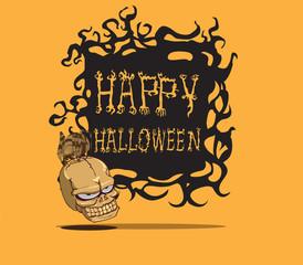 Skull. halloween monster
