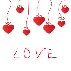 painting heart - Illustration, vector.