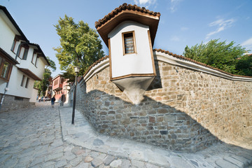 On a narrow street of old Plovdiv