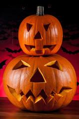 Scary halloween pumpkins, halloween theme