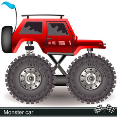 Red monster car