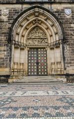Neo-Gothic portal,Church Peter&Paul Prague