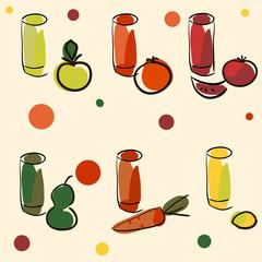 vector set of juices